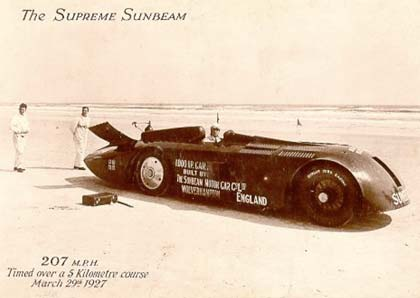 Sunbeam Slug Record Car