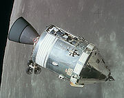 Apollo CSM in lunar orbit.