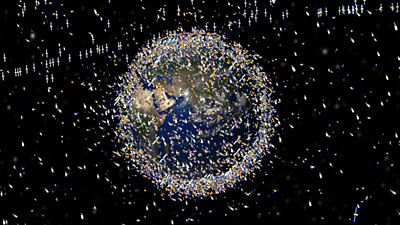 Space debris objects based on actual density data