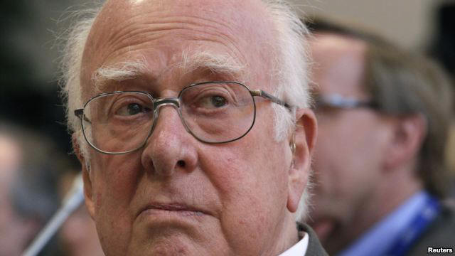 British physicist Peter Higgs at news conference on search for the Higgs boson at CERN, Meyrin, near Geneva, July 4, 2012.